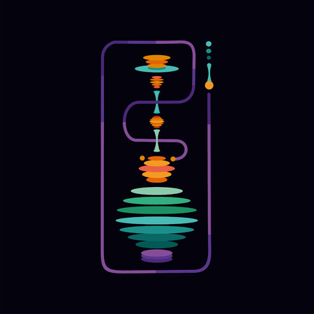Hookah. Isolated vector sign with a vibration color Illustration