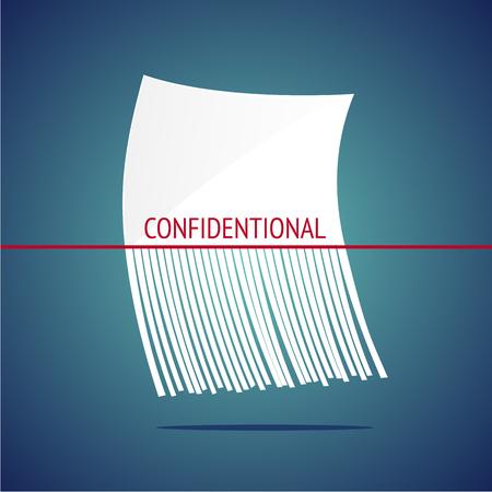 White shreddered sheet. Vector illustration. Design concept Vetores