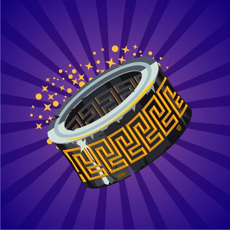 Magic fantasy ring. Video game assets. Cartoon vector illustration. Design concept. Illusztráció