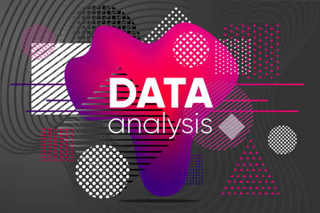 Data analysis background. Chaos analytics design concept. Cyberspace code visualization. Vector template.