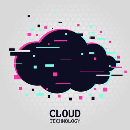 Cloud technology background. Streaming service illustration. Communication technology vector concept. Internet data service.