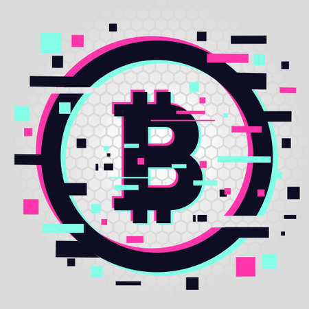 Blockchain in glitch style.