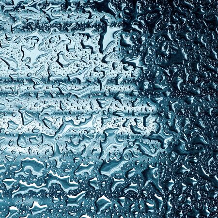 trickling: Raindrops on mirror ideal for unique abstract wallpapers.in square