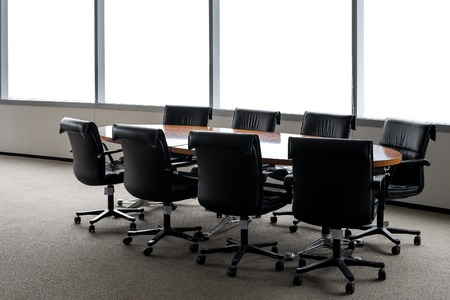 architectural firm: conference table in room