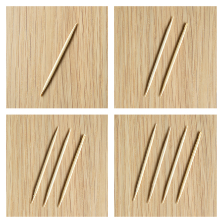toothpick: counting 1 to 4  by toothpick