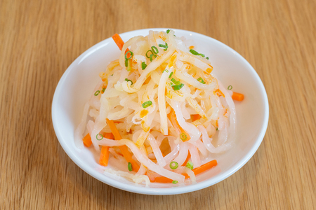 jelly fish: spicy jelly fish with carrot salad Stock Photo