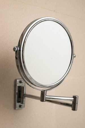 wall mirror: Round wall mirror for the bath