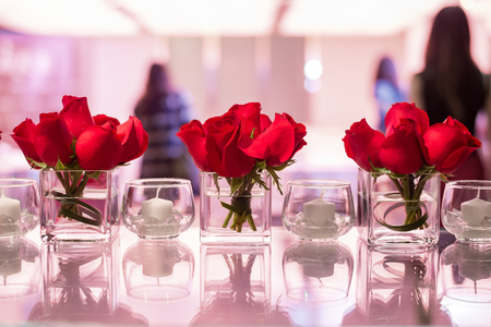 Red roses decotation