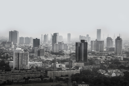 The Shade of Bangkok Cityscape Reklamní fotografie