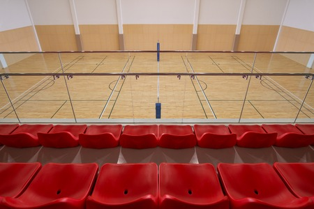 arena: Gymnasium from red seating view