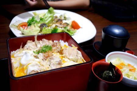 Japanese katsudon set menu - Japanese favorite dish