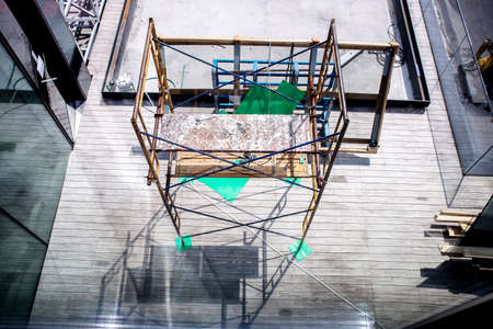 Mobile Scaffold Tower Platform in construction site