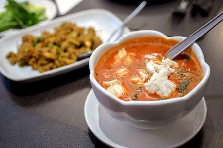 Thai coconut milk crab red curry