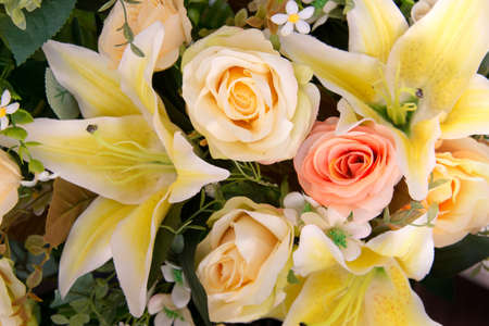 Closed up of yellow bouquet