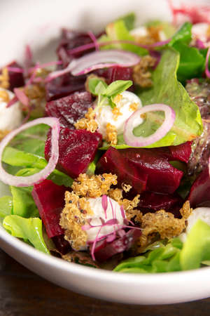 Quinoa and beetroot vegetable  salad