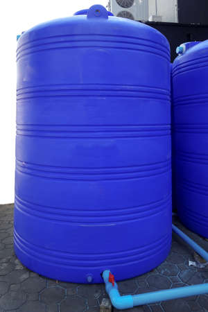 Plastic water tank 写真素材