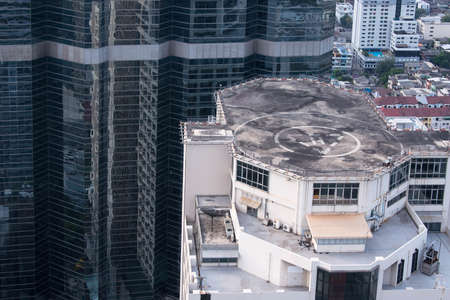 rooftop helicopter pad on skyscraper