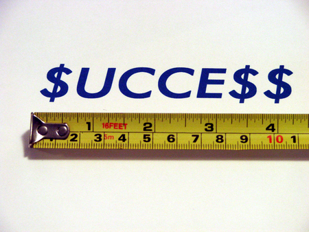 inches: Measuring success concept