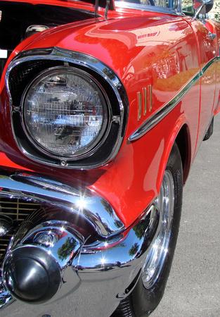An American hot rod at a car show