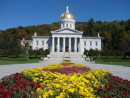 A state capital building on a beautiful day Archivio Fotografico