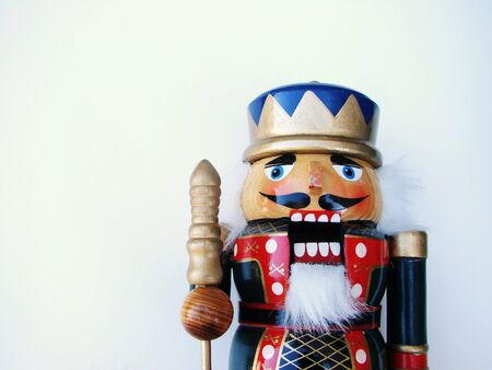 nutcracker: toy soldier isolated on white