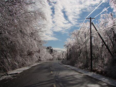 immobile: Glaseado de hielo despu�s de la tormenta
