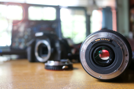 Lens and adapter for used with camera in the office.