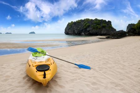 Kayaking or sea canoe on the beach at Ang Thong Island, THAILAND