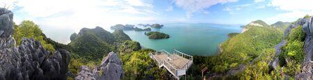 Panorama view of ang thong Island, Archipelago at Samui Thailand