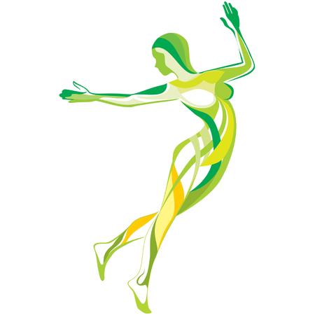 Sports and fitness Vektoros illusztráció