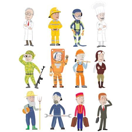 flight helmet: Cheerful trades Illustration