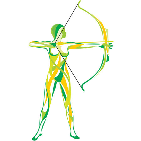 archer of bow: Sports and fitness Illustration