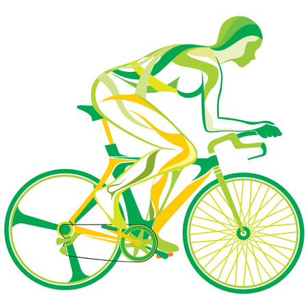 one wheel bike: Sports and fitness Illustration