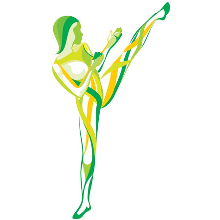 fitness dance: Sports and fitness Illustration