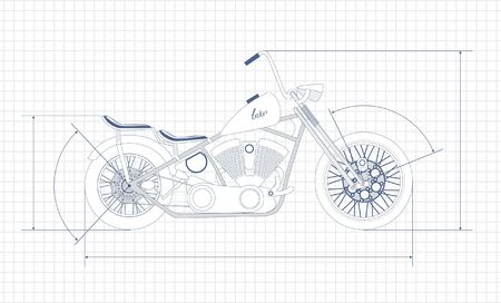 bobber: chopper,  drawing  Illustration