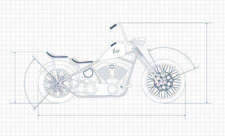 bobber: chopper,  drawing  Illustration