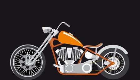 bobber: Chopper, bobber,  race bike motor
