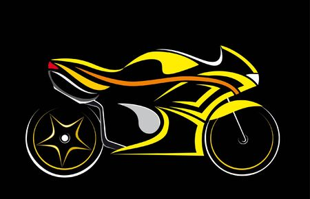 custom: motorcycle isolated on a black background