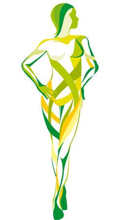 Vector  beauty figure Stock Vector - 7033900