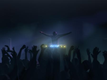 DJ-Performance im Rave club