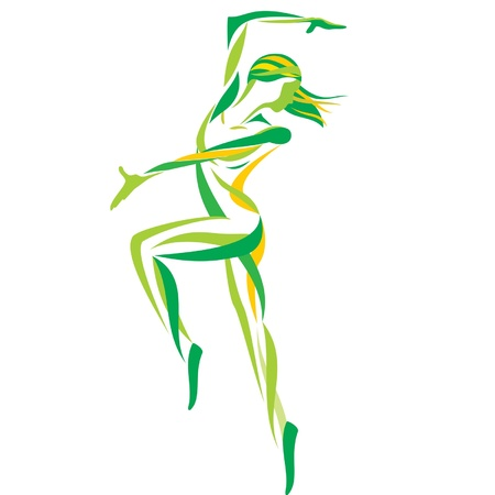 musique dance: Expression danse  Illustration