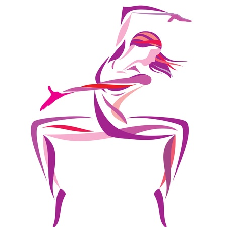modern  dance: dancing girl  Illustration