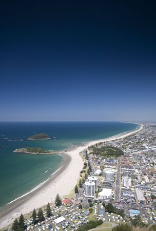 colour intensity: View from Mount Maunganui, New Zealand Stock Photo