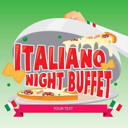 Illustration vector of Italian food.