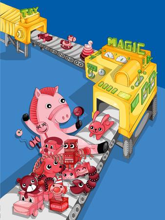 Toy machine.vector illustration Ilustracja