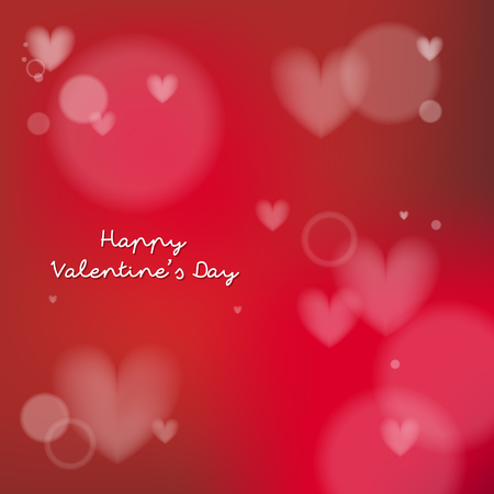 Happy valentines day design elements. Vector illustration. Red Background With Ornaments. Be my Valentine Background. Stock Illustratie