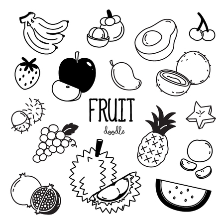 Fruit Doodle. Hand drawing styles fruit item