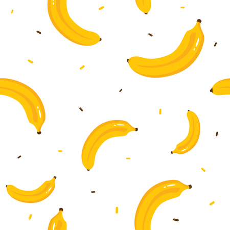 Colorful Banana seamless pattern. Citrus fruit background. Elements for menu, greeting cards, wrapping paper. Illusztráció