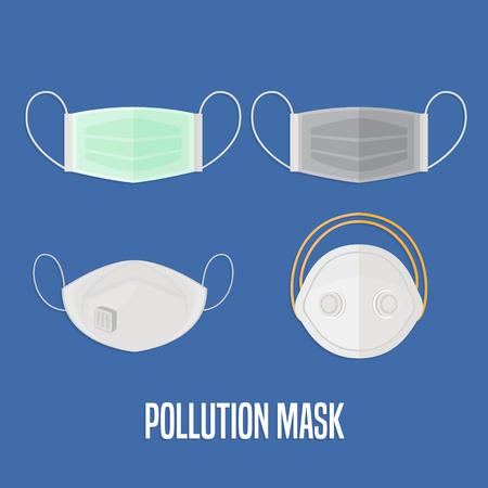 Air pollution mask Иллюстрация