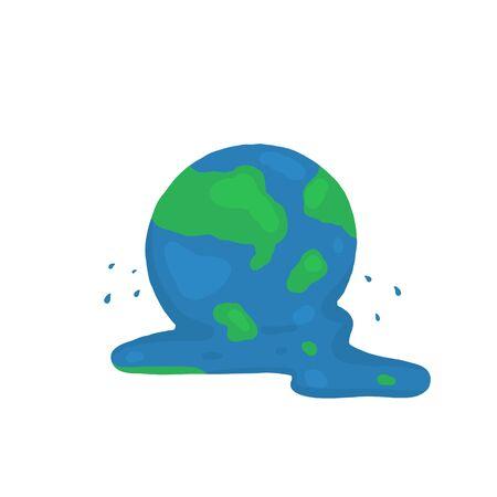 Melted earth doodle. vector illustration